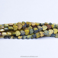 The Newest gemstone Loose beads CB38236 Yellow Turquoise Flat Heart Beads