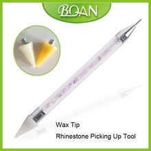 2017 BQAN New Nail Art Rhinestones Picker Gems Bead Wax Picking Pen Tool