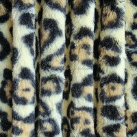 French Plush Knit Leopard Fabric By The Yard
