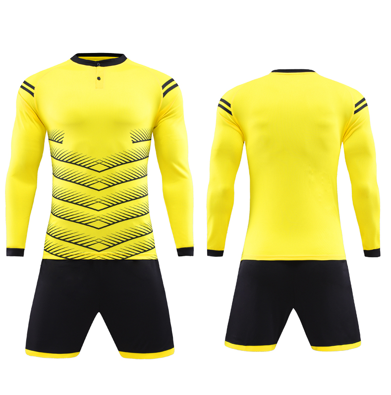 wholesale blank long sleeve Goalkeeper men sublimation soccer jersey for team