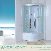 Walk in shower room enclosure with shower tray