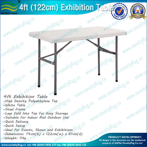Plastic Folding Table for Exhibition Display