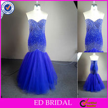 NC93 Stunning Star Beaded Mermaid Royal Blue Real Sample Prom Dresses Made In China