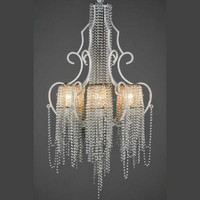 Crystal Simple White Chandelier