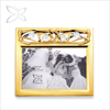 Crystocraft Gold Plated Wedding Photo Picture Frame Decorated with Crystals from Swarovski Couple Swan Wedding Gift