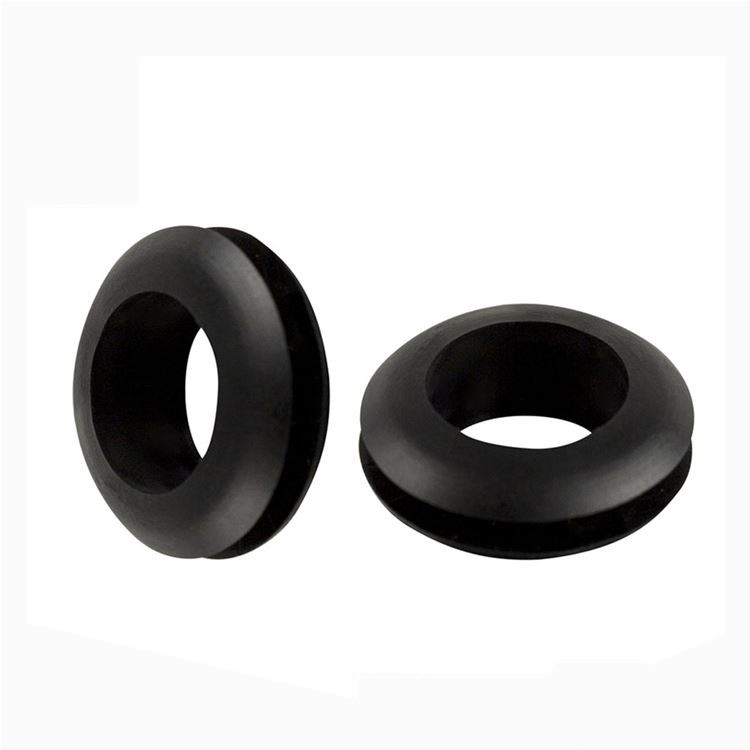 cable rubber grommet round black