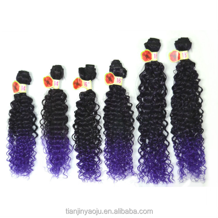 Express ali high temperature fiber deep wave twist crochet braid synthetic 6 bundles / set hair weave