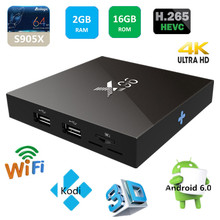 android 6.0 marshmallow s905x cpu 2gb 16gb X96 tv box ott tv box