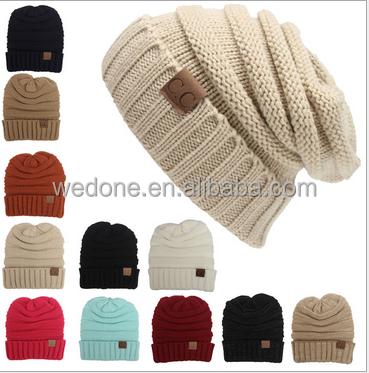 Wholesale Cute custom fashion Knit Kids Hats Pom Pom Baby Crochet ...