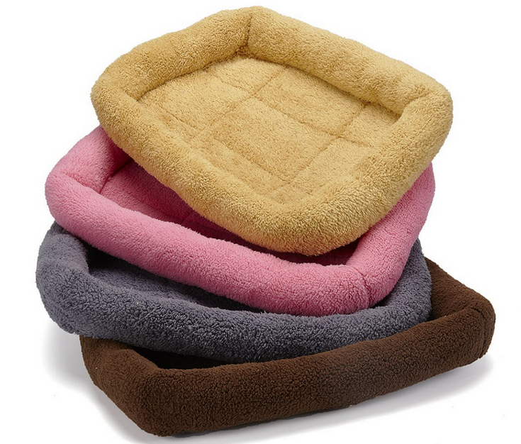 CORAL FLEECE Super Soft Pet Bed, Different Size Easy Cleaning Wholesale Cat Dog Bed For Pet