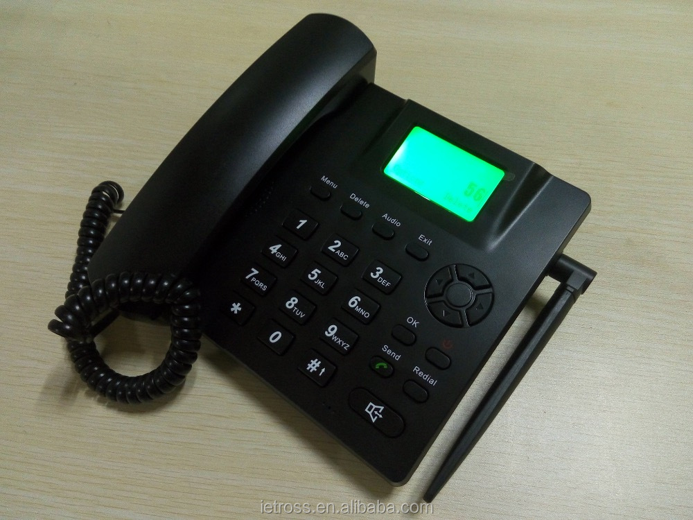 cheap wholesale 3g gsm fixed wireless desk phone cordless phone with fm /call waiting/forwarding call