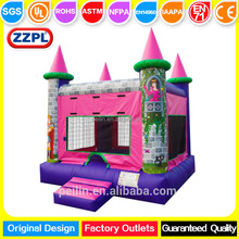 ZZPL Children outdoor party small PVC inflatable princess jumping bounce castle