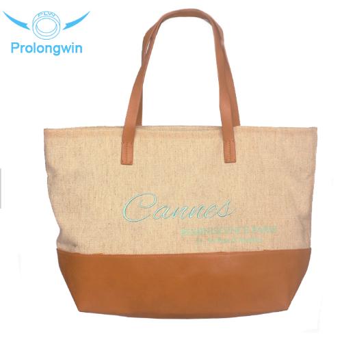 quilted handbag fashion Cheap and stylish shopping big cotton shopper bag