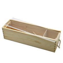 Unfinishing wooden wine boxes with acrylic sliding lid for one bottle
