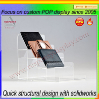 New products acrylic counter wallet display stand