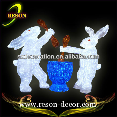 Easter decoration easter rabbit figurine