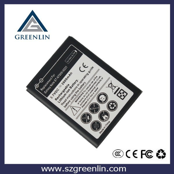 GB T18287-2000 Cell Phone Battery For Samsung Galaxy Note i9220 N7000