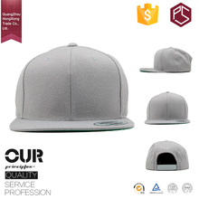 Hong Xiong OEM service gray color plastic back buckle 6 panel plain blank snapback hat