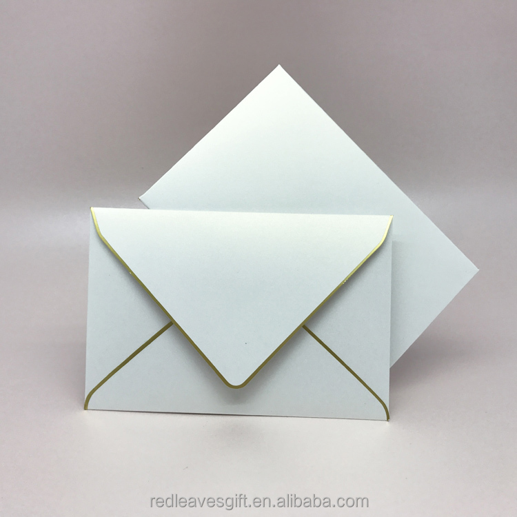 New design wedding invitation envelope packaging factory price
