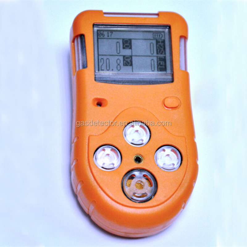 4 in 1 gas sensor,portable 4 in 1 gas detector with multi gas design for ch4,<strong>O2</strong>,H2S,CO