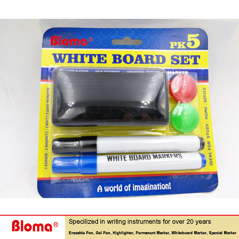 Factory sell cheap cost low oder Dry Erase Whiteboard Marker Pen Set with eraser and magnet