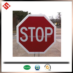 2015 hand held road safety sign board, corrugated polypropylene road traffic sign