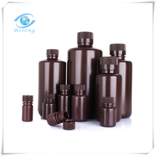 laboratory amber brown 100ml plastic sample bottles made in China