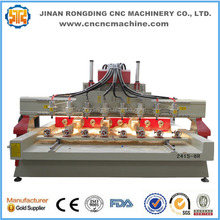 Multi heads 4 axis cnc/cnc router 4 axis/cnc router with rotary table