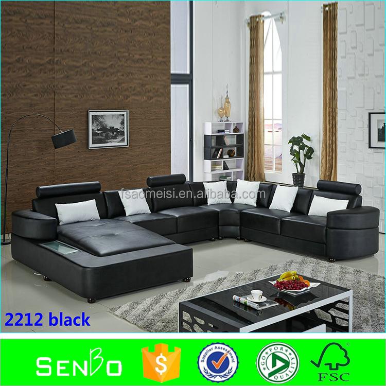 Modern black sofas