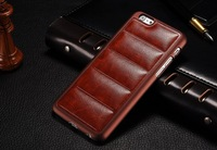 Unique Design Back PU Leather Protective Cover Case for iphone 6 4.7inch