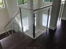 Hot Sale stainless steel indoor stair railings with square baluster