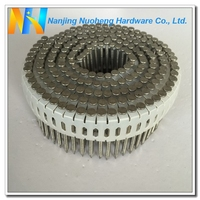 "15/16 Degree Ring Shank Stainless Steel Plastic Sheet Coil Nail 2.87*50/0.113""*2"""