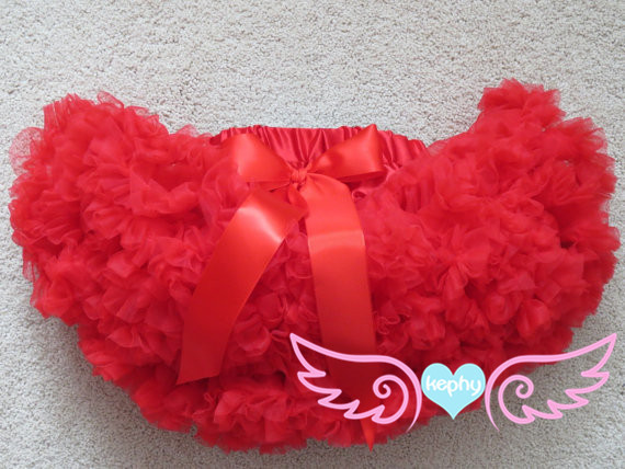 Red Pettiskirt, Girls 2nd Birthday Outfit, Red Tutu, Petti Skirt