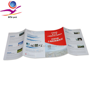 4 colour offset printing leaflet 157g art paper brochure printing