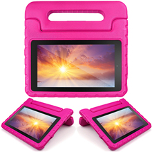 Wholesale price eva shockproof handle stand hard cover case for amazon kindle fire hd 7 inch 2015/2017 tablet from shenzhen