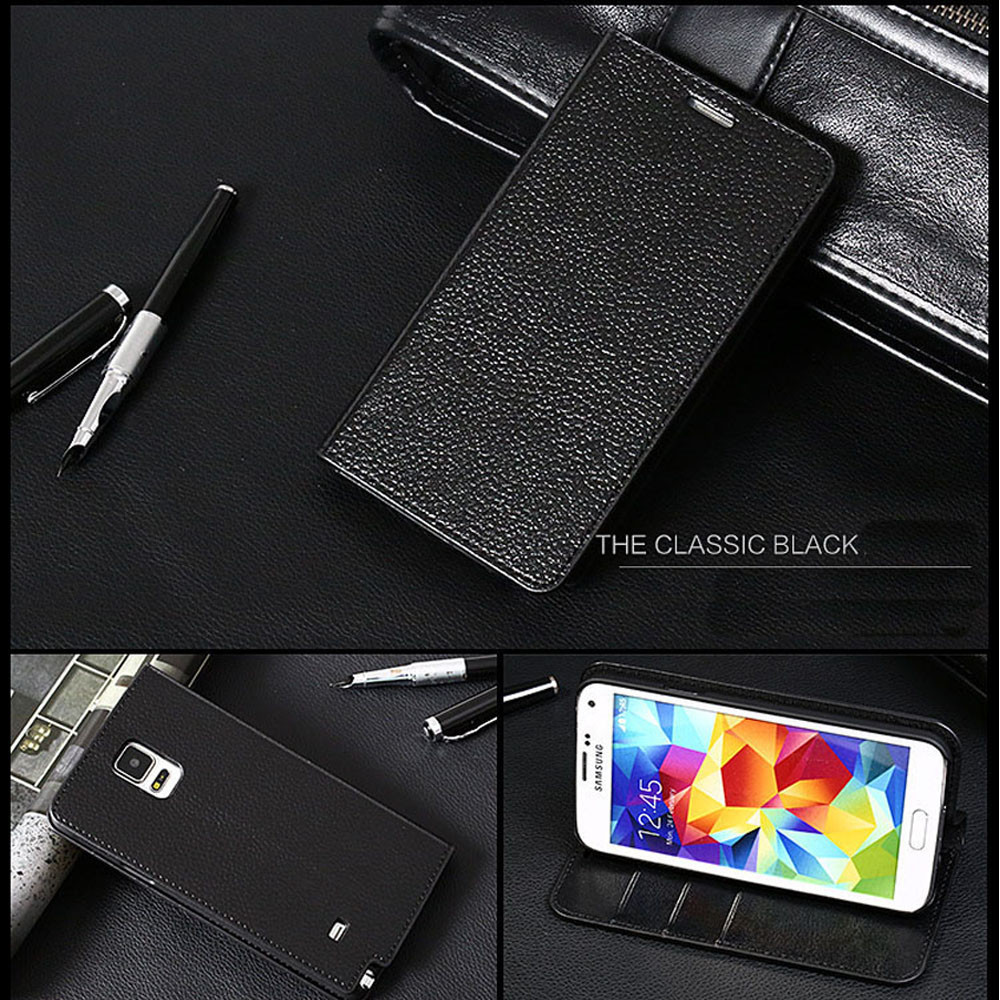 dustproof waterproof Pu case for samsung galaxy note 4
