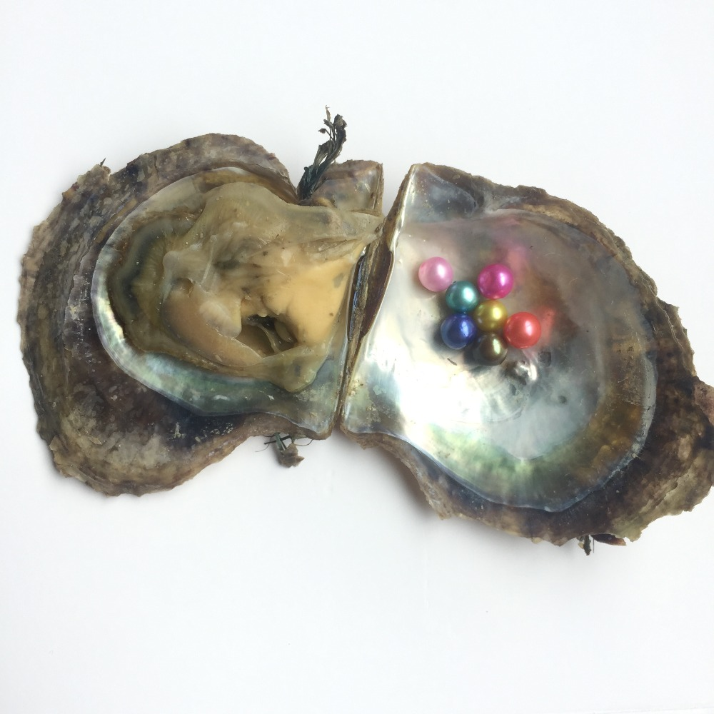 6-8mm vacuum packed oyster pearl colors akoya