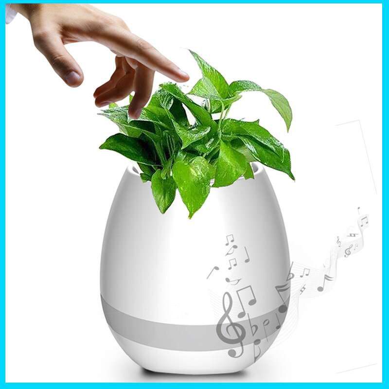 Newest Innovation Touching Bluetooth Speaker and LED Lamp led Flower Pot