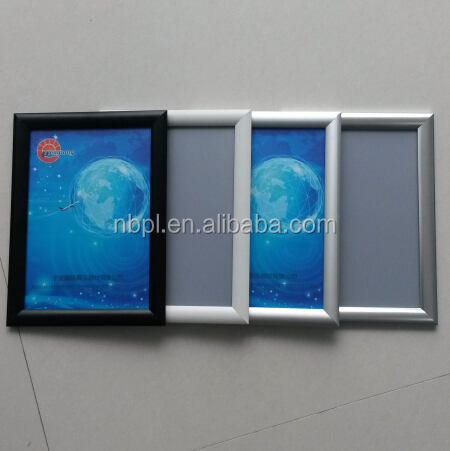 Aluminum profile A4 frame sign board with 25mm Mitred corner click <strong>poster</strong> snap frame