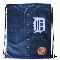 2014 Hot Cheap Jersey Mesh beach drawstring bags with Carry Tab