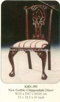 New Gothic Chippendale Diner Mahogany Indoor Furniture.