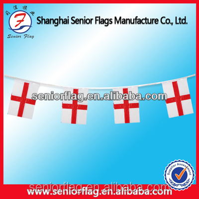 Plastic England Country flags bunting pennant string flags