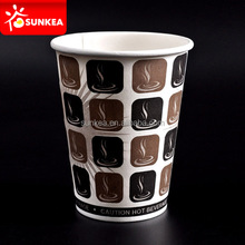 Custom logo printed vending disposable hot coffee paper cup
