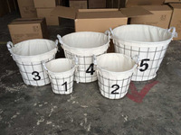 Handmade wire decorative lundry basket with wheel