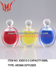Round Colorful Aroma Diffuser Cystal Perfume Bottles With Volume 150ml