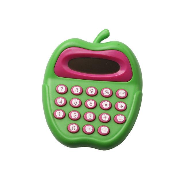 Cute Apple Shape 8 Digits Pocket Calculator for Children