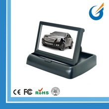 "2 Video Input 4.3"" TFT LCD Car Foldable Rearview Monitor"