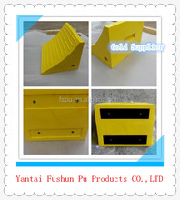 PU wheel chock for car parking/polyurethane buffer / pu rubber chock