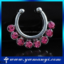 Hot sexy colorful nose ring ornaments no piercing for women wholesale O 6