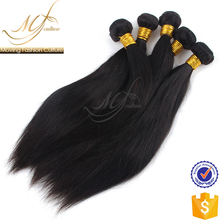 OEM factory 100% unprocessed indian 24 inch human straight hair weave